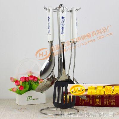 供应 不锈钢厨具套装 厨房用品七件套 烹饪美食工具 韩国陶瓷厨具