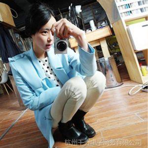 供应东大门2014春装新款女装春季外套韩版中长款大码宽松型女式小西装