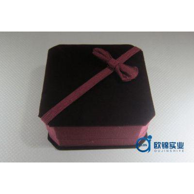 供应欧锦实业厂家直销珠宝首饰植绒盒 高档植绒盒批发 植绒盒批发