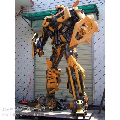 供应北京变形金刚雕塑大黄蜂钢雕擎天柱钢雕厂