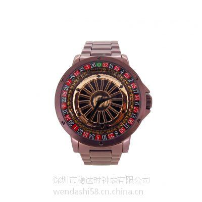 男士 防水不锈钢石英手表 深圳手表生产厂家 稳达时代工生产