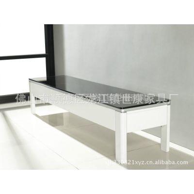 供应简约时尚的钢化玻璃电视柜
