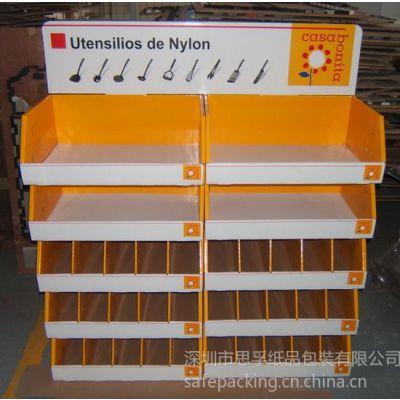 供应深圳厂家批发堆头式纸促销展示架,纸陈列货架