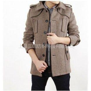 供应韩版男式羊毛大衣 中长款羊绒大衣 时尚男士毛呢风衣