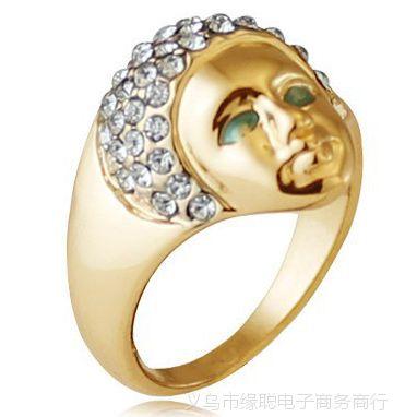 厂家混批时尚美女头像戒指 贵象征埃及艳后美人头戒指 韩国戒指