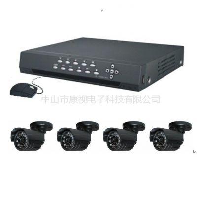 供应安防监控设备 4路 监控摄像头套装四路 夜视高清 SHARP 420线