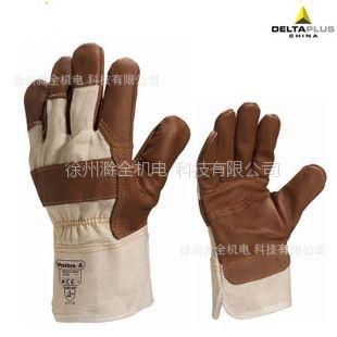 供应牛皮搬运手套 机械防护手套 全棉帆布掌背和袖口 舒适 保暖 徐州