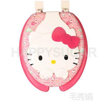韩国正品HEOLL KITTY凯蒂猫卡通儿童海绵U型马桶坐垫