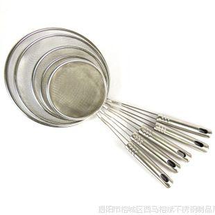 不锈钢漏勺 过滤网筛 不锈钢油格油漏 油渣捞 火锅漏勺14cm