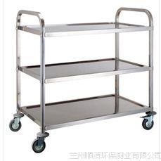 不锈钢三层餐车厨房设备酒店用品餐厅手推餐车三层手推车平板车