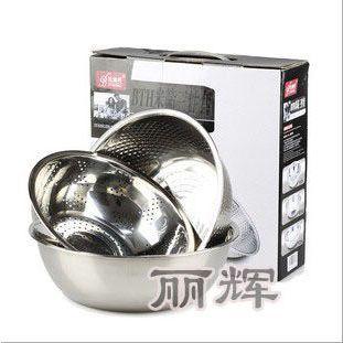 供应洗米筛果蔬盆和面盆(实用三件套)