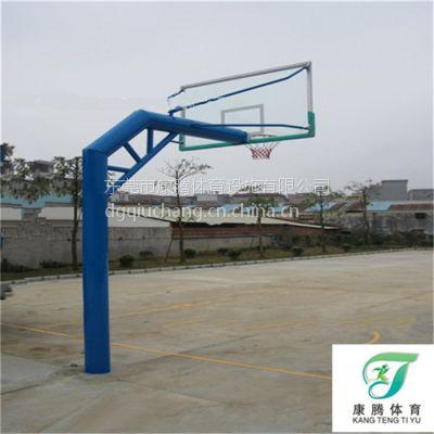 东莞康腾篮球架生产厂家 塘厦运动球场固定式篮球架设施安装