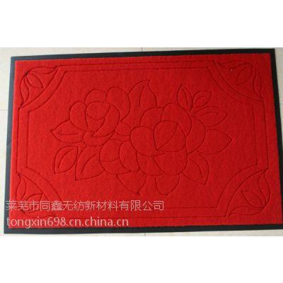 供应YH-110涤纶防滑拉绒压花地毯