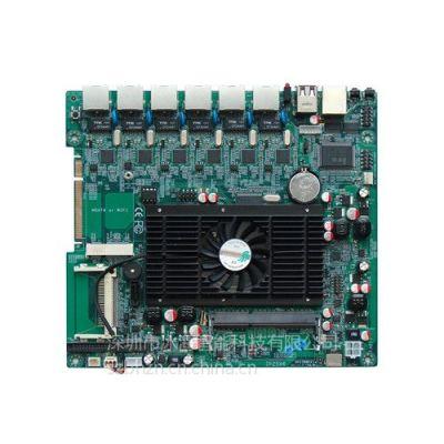供应多网口防火墙主板D525六网口千兆网卡2COM 20CM*18CM 网络安全 软路由主板