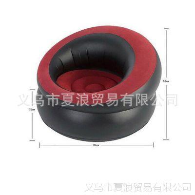 专业批发单人植绒圆筒沙发 PVC家庭沙发/懒人沙发