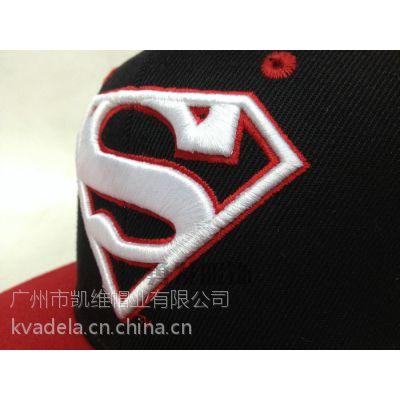 凯维欧美风超人logo平板棒球帽