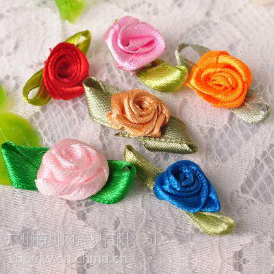 现货直销手工服装辅料衣服装饰小花 缎带珍珠加珠梅花免费拿样