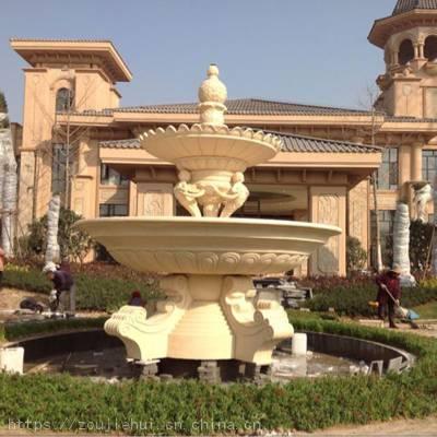 水景喷泉仿砂岩喷泉 广场大型水景跌水盆组合喷水景观