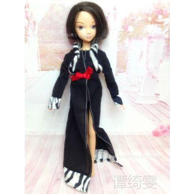 批发 正版阿拉伯服装 芭比娃娃衣服 可儿娃娃古装服饰 黑色披风