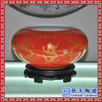 辰天陶瓷手绘礼品聚宝盆 聚宝盆批发 订做陶瓷聚宝盆
