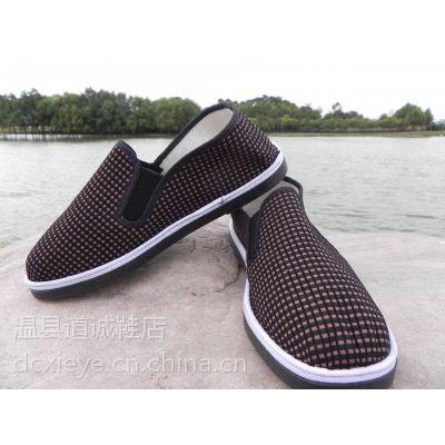 厂家特价批发手工布鞋6元一脚蹬塑胶底布鞋