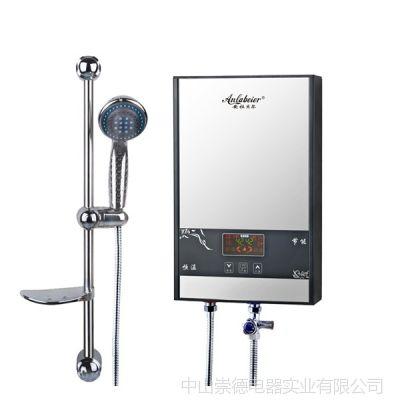供应高端快热电热水器镜面款JM80智能变频恒温安装方便快捷