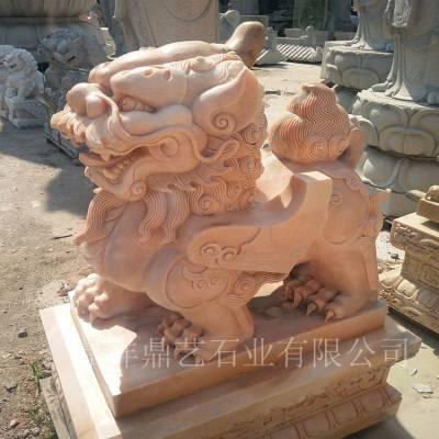供应精品石雕貔貅 镇宅石雕摆件 大理石貔貅 鼎艺石业