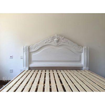 烟台瑞馨家具现代时尚卧室定制实木床1.8*2米,欢迎到店来