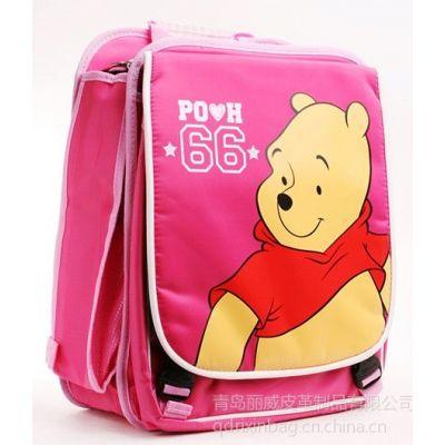 供应青岛新款儿童书包订做 牛津布学生背包工厂 小学生双肩背包厂家