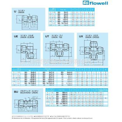 供应日本FLOWELL管接头30-U/UE/UT/UX/BU系列(PFA/PTFE特氟龙材料)