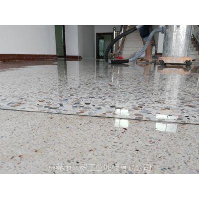 柳州融水厂房地面起灰起砂处理--三江旧水磨石地面翻新--坚硬耐磨、越用越亮