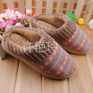 供应出口棉拖针织室内拖鞋居家拖鞋秋冬季时尚家居棉拖鞋特价优惠