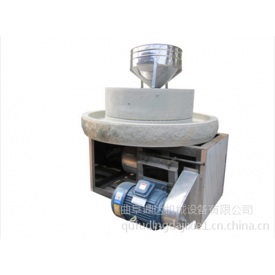 流动豆浆石磨机 鼎达牌高硬度优质白砂岩石电动石磨机