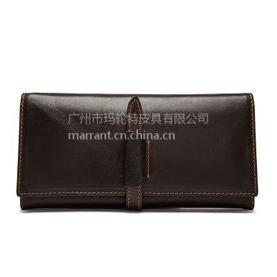 MARRANT玛轮特皮具 广州低价批发男士钱包韩版头层牛皮钱夹