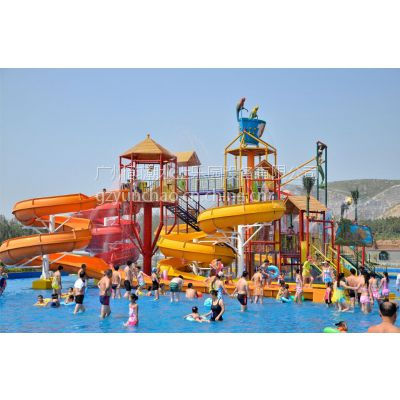 广州韵潮水上乐园设备儿童戏水屋水寨