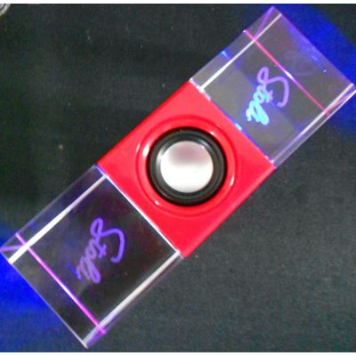 新款水晶音箱 高档电脑音箱 USB音箱