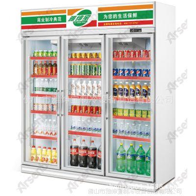 便利店冷柜 三门冷柜 四门冰柜 水柜 饮料保鲜柜