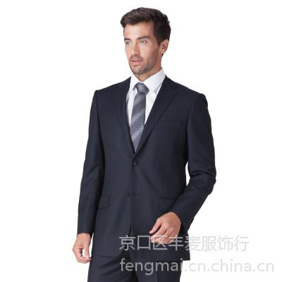 精品西装套装定制TRUMP MAN黑色2016春秋个性西服定做