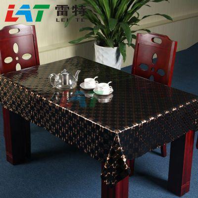 供应雷特家居 双面压纹PVC餐桌台布 ***适合中国家庭用的好桌布台布