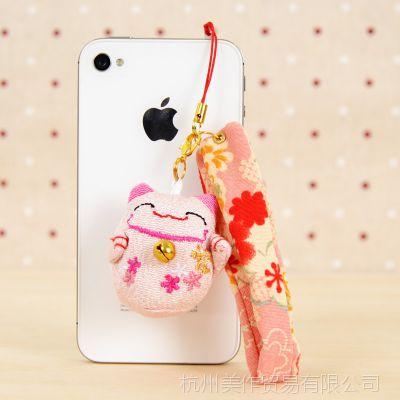 供应和风/ 胖猫婚庆礼物批发胖猫苹果pad防尘塞手机挂绳 ZG002