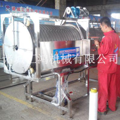 海带滚筒清洗机,HH-3000腌渍类清洗设备厂家,汇鸿自动洗菜机价