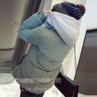 供应韩版女式棉衣外套尾货库存大码少女式加厚学生冬衣小棉袄子 批发