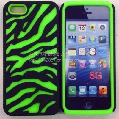 供应新款iPhone斑马纹手机壳  硅胶保护套