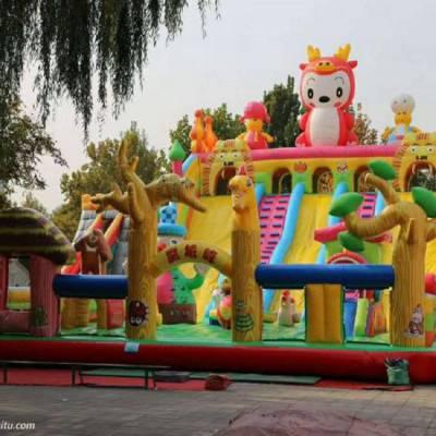 供应龙宝宝充气攀岩大滑梯,郑州心悦LB-3351充气大滑梯蹦蹦床