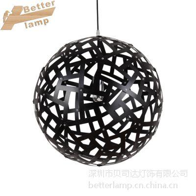 厂家直销 美式工业风酒店工程会所定制装饰吊灯 原木创意艺术个性木艺灯