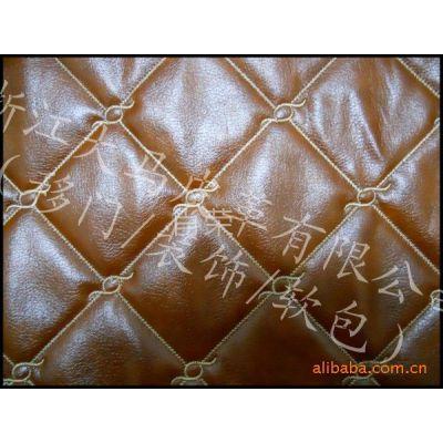 供应苹果木软包皮革 移门皮革 车线皮革 刺绣皮革 PU装饰皮革