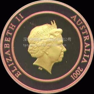 腾美工艺品 深圳产纯铜烤漆纪念币,来图来样定制浮雕纪念币