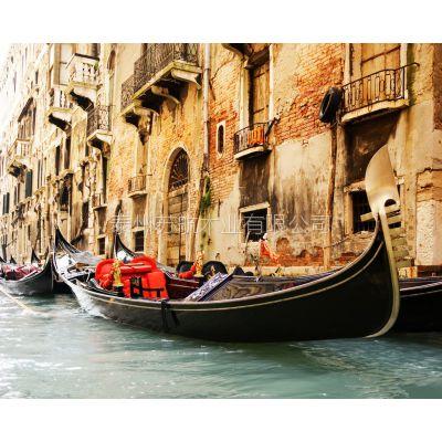 贡多拉游船 木质贡多拉手划船 景区观光木船