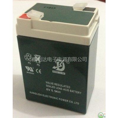 供应古镇供应:康利达6v5.5AH蓄电池 电子称蓄电池应急灯蓄电池大优惠