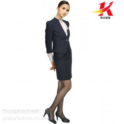 西安越凯商贸女士韩版小西装套裙定做批发